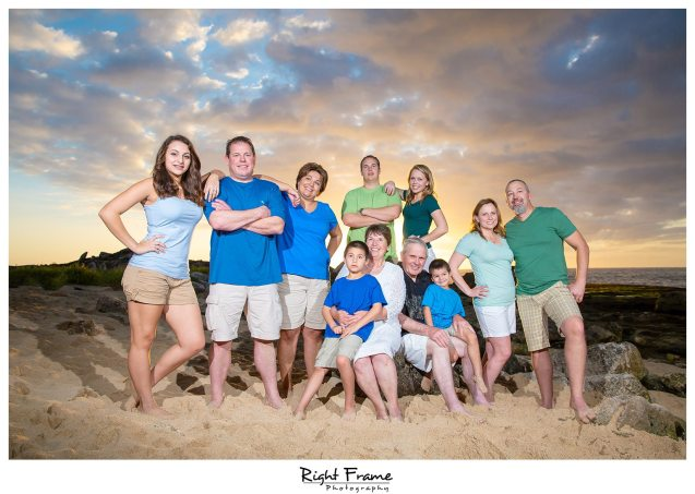 001 Sunset Family Pictures in KoOlina