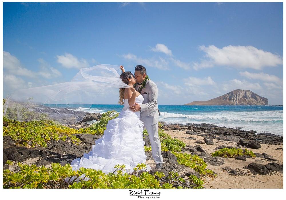 Beach Wedding Ceremony Oahu: Makapuu Beach Wedding Oahu Hawaii
