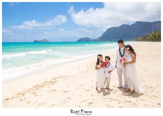 Beach Wedding Ceremony Oahu: Oahu Wedding Vow Renewal Ceremony