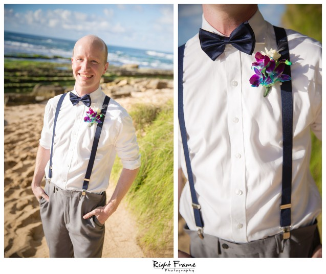 Sunset Beach Wedding Papailoa Beach on North Shore Oahu Hawaii