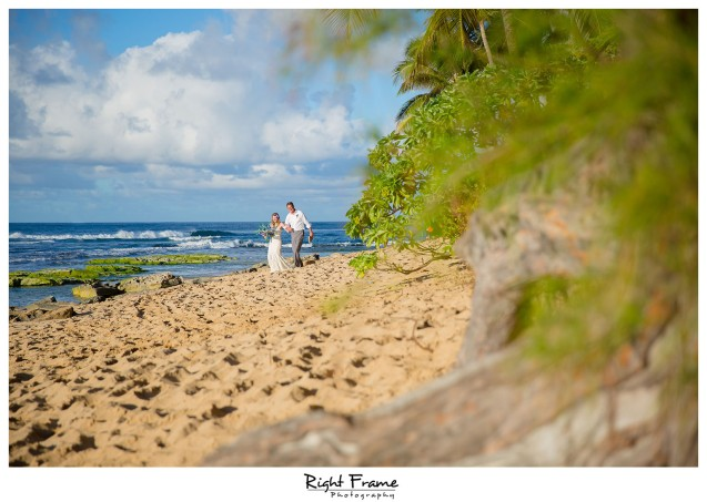 Beach Wedding Ceremony Oahu: Sunset Beach Wedding, Papailoa Beach On North Shore Oahu