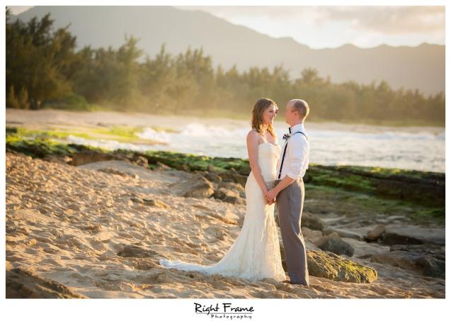 Beach Wedding Ceremony Oahu: Sunset Beach Wedding, Papailoa Beach On North Shore Oahu