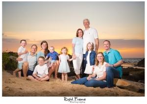 Sunset Family Portraits on Oahu Hawaii