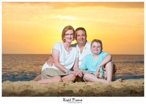 Oahu Family Sunset Beach Photography
