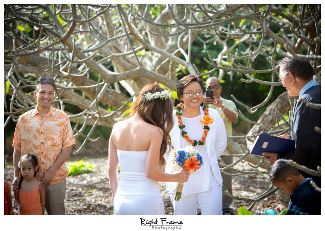 Koko Head Botanical Garden Wedding  The Willows Restaurant Reception