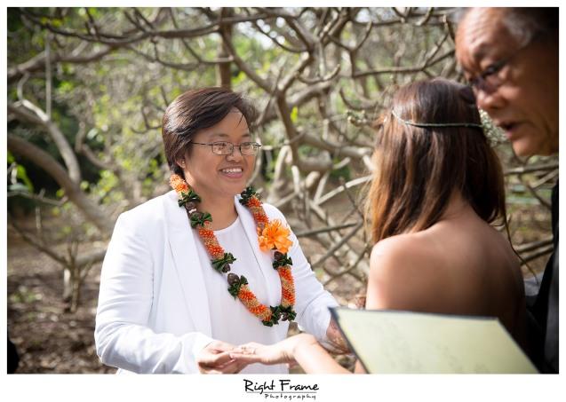 Koko Head Botanical Garden Wedding  The Willows Restaurant Reception