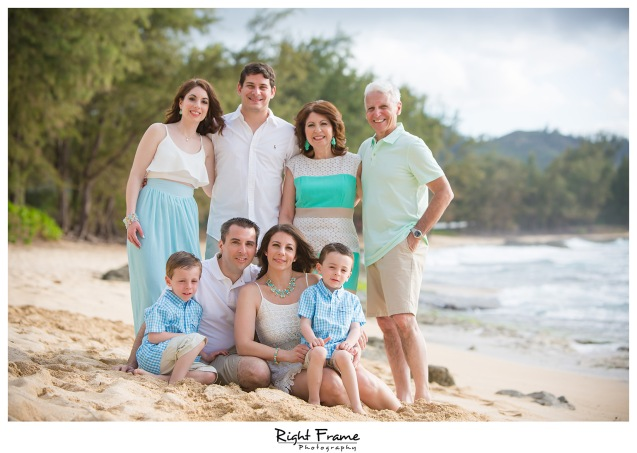 Sunset Family Portraits at Turtle Bay Stables Beach