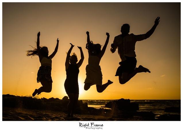 Sunset Family Pictures near Marriott Ko Olina Beach Club