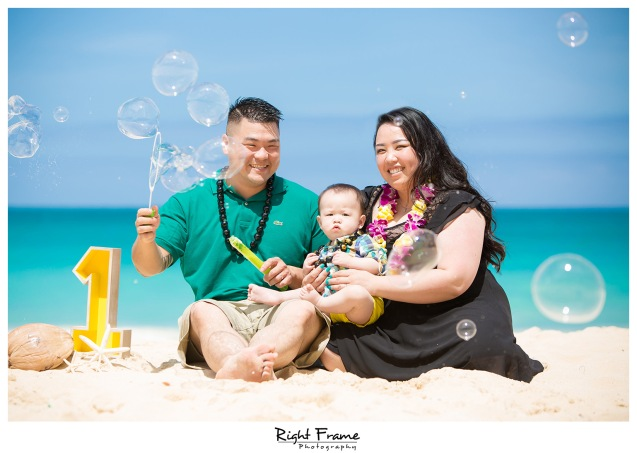 First Birthday Pictures at Waimanalo Beach Oahu Hawaii