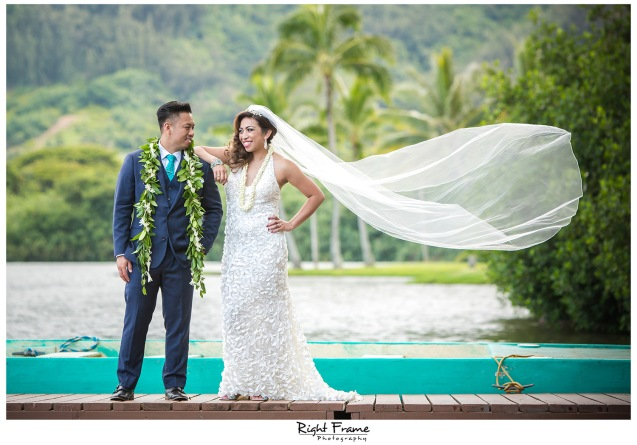 WEDDING at Kualoa Ranch, Moli'i Gardens Hawaii