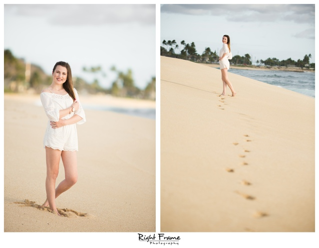 Senior Beach Portraits Pictures in Hawaii