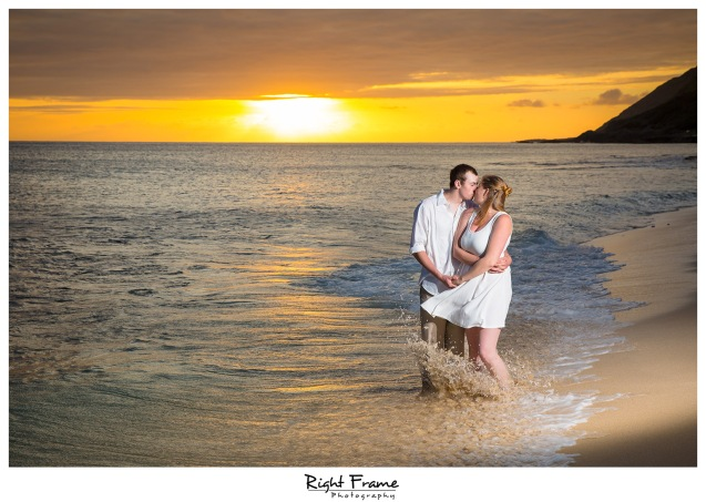Oahu Surprise Sunset Proposal She Said Yes