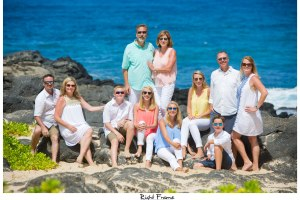 Family Portrait in Oahu Hawaii Makapuu Beach