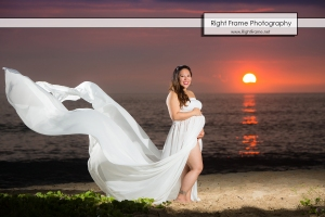 Sunset Maternity Photography Hawaii Oahu