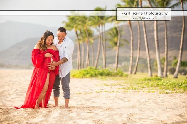 Sunset Maternity Photography Hawaii Oahu