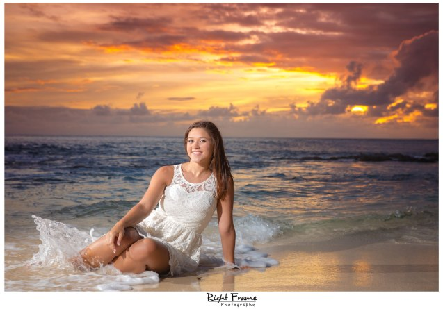 Senior Portraits in Oahu, Hawaii