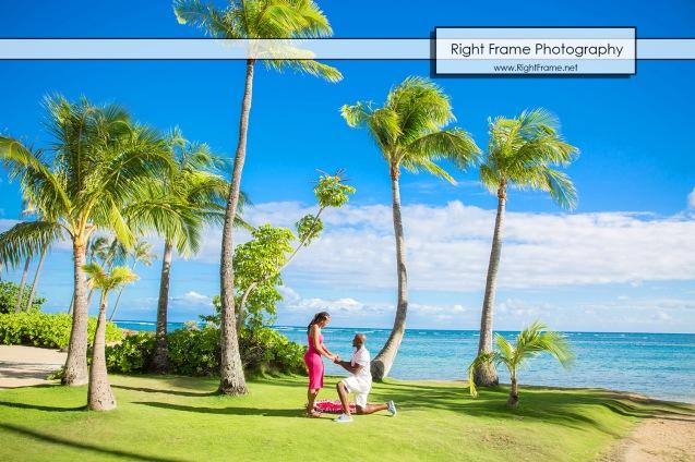 Surprise Marriage Proposal at Kahala Beach