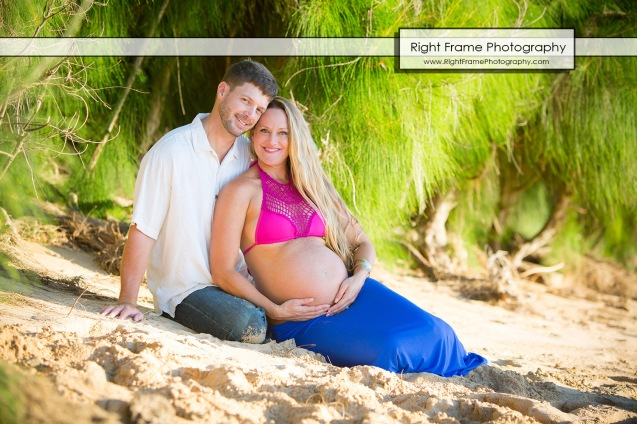 Affordable Maternity Photography Oahu Papailoa Beach