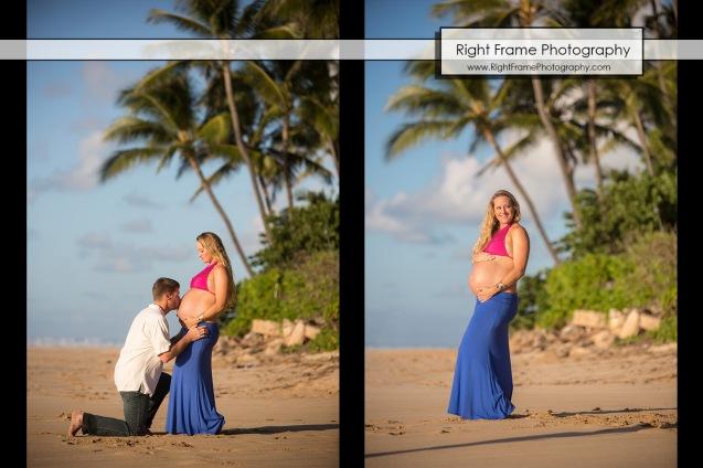 Affordable Maternity Photography Oahu Papailoa Beach