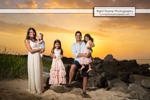 Sunset Family Photography in Ko'Olina Oahu Hawaii