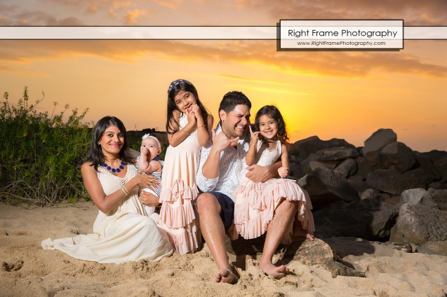 Sunset Family Photography in Ko'Olina Oahu Hawaii