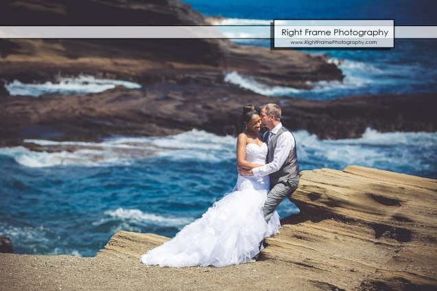 Heavens Point Lanai Lookout Hawaii Wedding Pictures