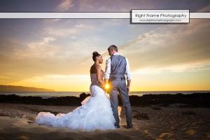 Oahu Sunset Wedding Sharks Cove North Shore