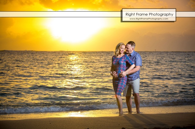 Sunset Engagement Photo Session on Waikiki Beach
