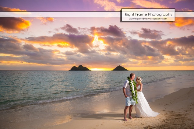 Sunrise 25th Wedding Anniversary in Lanikai Beach Oahu