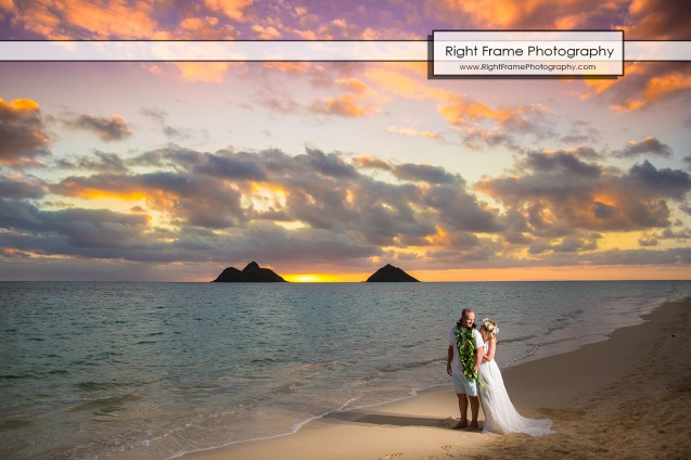 sunrise 25th wedding anniversary in lanikai beach oahu