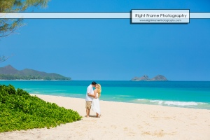 Bellows Beach Engagement Photos Hawaii