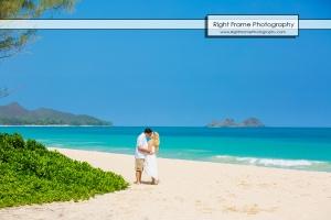 Bellows Beach Engagement Photos Hawaii