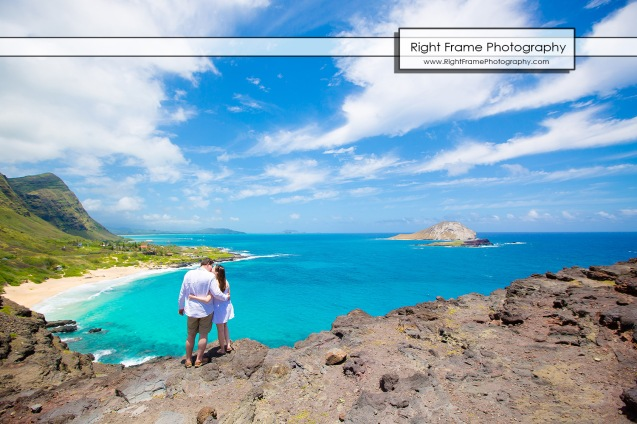Proposing in Makapu'u Lookout Oahu Hawaii