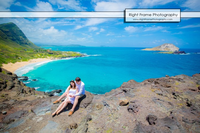 Proposing in Makapu'u Lookout Oahu Hawaii