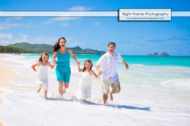 Fun Family Beach Pictures in Oahu Hawaii