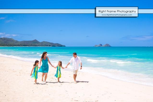 Fun Family Beach Pictures in Oahu Hawaii