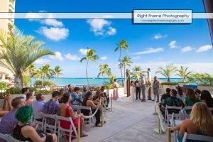 Waikiki Wedding at the Halekulani Hotel Hau Terrace