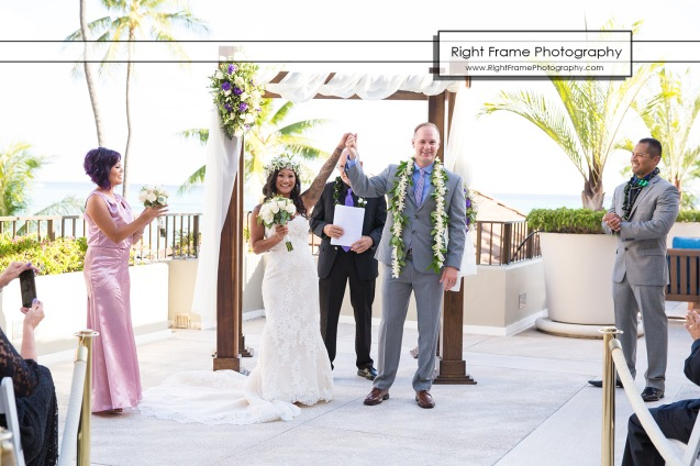 Waikiki Wedding at the Halekulani Hotel Hau Terrace