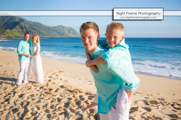 Affordable Sunset Family Pictures near Marriott's Ko Olina Beach Club