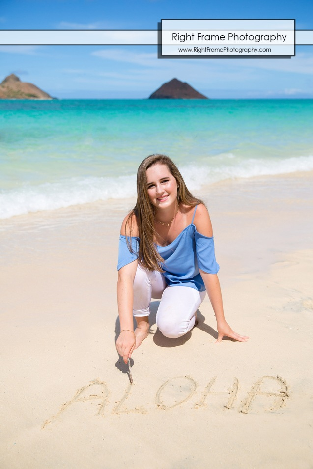 Hawaii Senior Pictures - LANIKAI BEACH