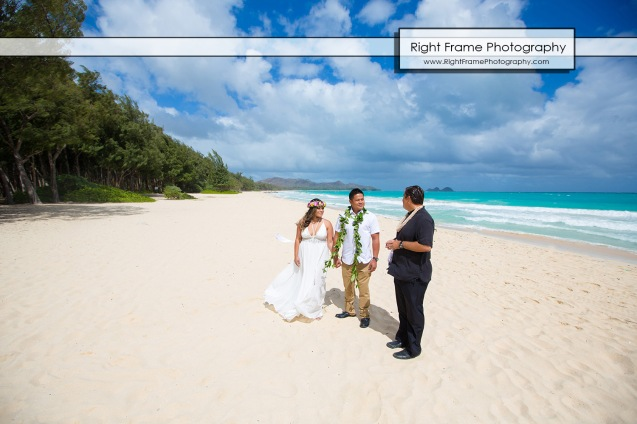 Hawaii Vow Renewal Ceremony Photography Waimanalo Beach Oahu