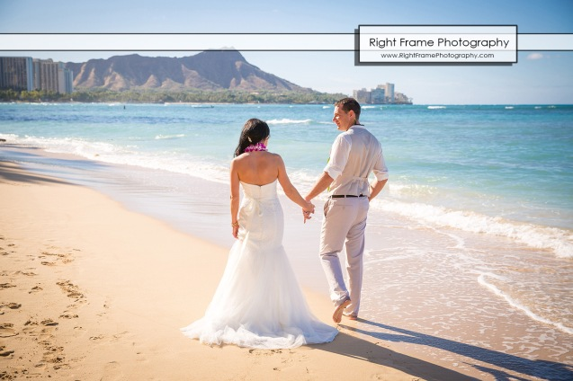 Hawaiian Vow Renewal Ceremony on Waikiki Beach at the Outrigger Reef Beach Resort