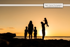 SUNSET FAMILY PORTRAITS near Four Seasons Oahu at Ko'olina