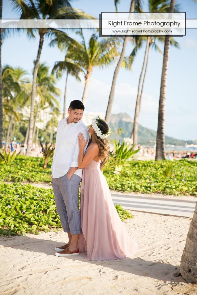 Engagement Photo Shoot at Waikiki Beach Hawaii