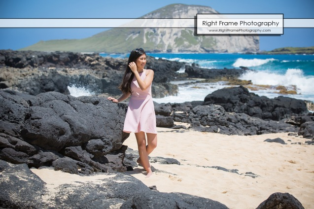 Oahu Senior Portraits at the Makapu'u Beach