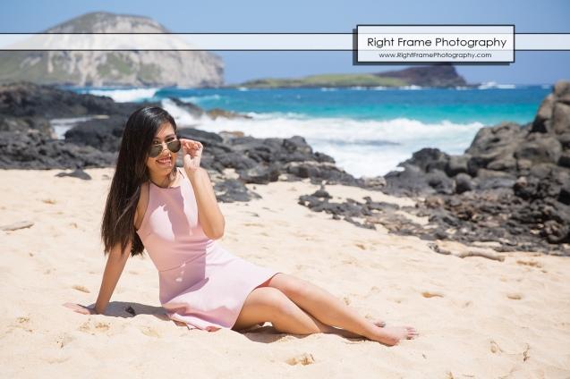 Oahu Senior Portraits at the Makapu'u Beach