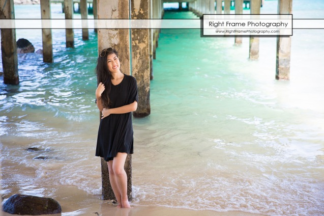 Oahu Senior Portraits at the Makai Research Pier