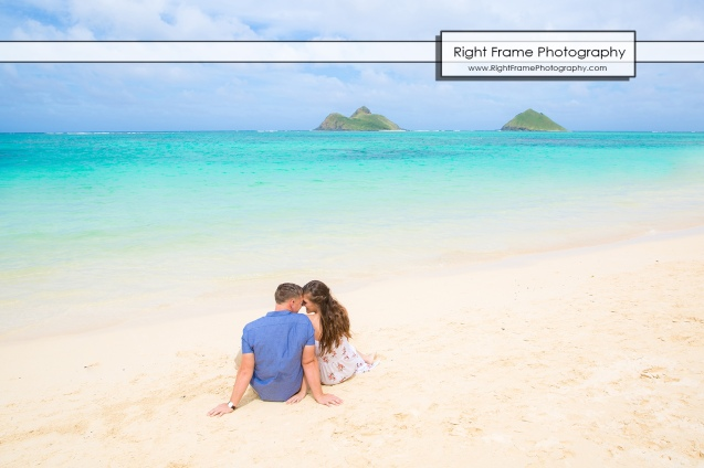 Engagement Photos at Lanikai Beach Kailua Oahu Hawaii