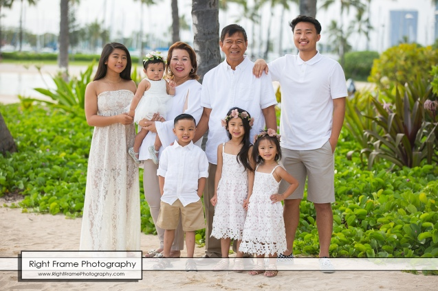 Oahu Family Portraits near Hilton The Grand Islander Waikiki Beach