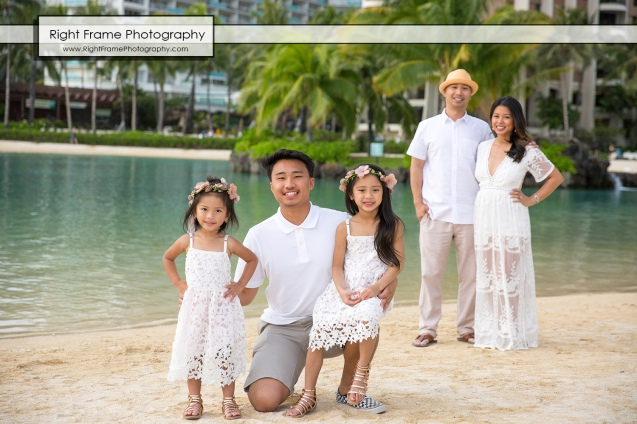 Oahu Family Portraits near Hilton The Grand Islander Waikiki Beach